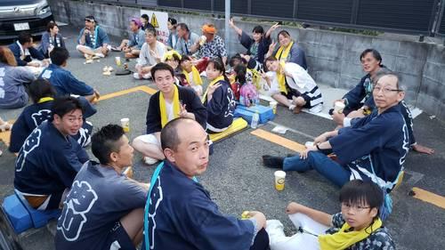 7月22日 八幡神社祭礼に久里浜天神社氏子会として応援に駆けつけました。